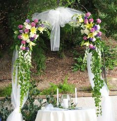 Beautiful Wedding Arbor #wedding