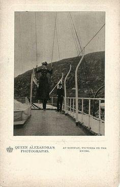 Kongelig Postkort Fotograf; Dronning Alexandra, gift med Edw VII Kongebesøket var omlag 1908