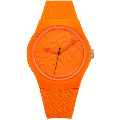 Superdry SYG169O Unisex Urban Silicone Strap Watch, Orange ($33) ❤ liked on…