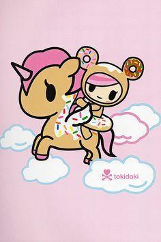 Donutella on her unicorn. Cute