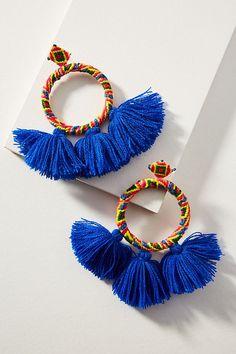 Slide View: 1: Sandra Tasseled Drop Earrings