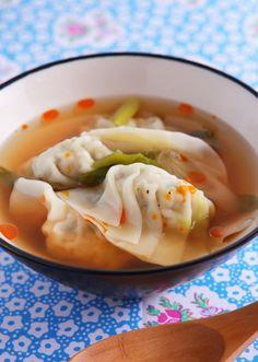 野菜たっぷり餃子スープ のレシピ・作り方 │ABCクッキングスタジオのレシピ | 料理教室・スクールならABCクッキングスタジオ