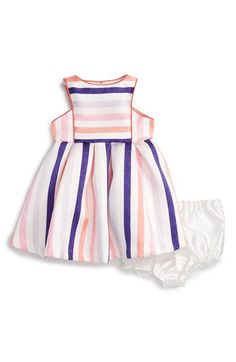 Pippa & Julie Stripe Sleeveless Dress (Baby Girls)