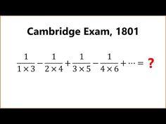 Can You Solve A Very Old Cambridge Exam Question? Cambridge Exams, Mathematics, Student, Math
