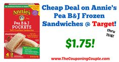 Great savings for a quick lunch for your kiddos! Cheap Deal on Annie's Pea B&J Frozen Sandwiches @ Target!  Click the link below to get all of the details ► http://www.thecouponingcouple.com/cheap-deal-on-annies-pea-bj-frozen-sandwiches-target/ #Coupons #Couponing #CouponCommunity  Visit us at http://www.thecouponingcouple.com for more great posts!