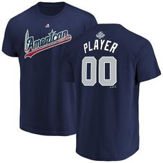 01543dc8d4b American League Majestic 2018 MLB All-Star Game Custom Name   Number  T-Shirt – Navy
