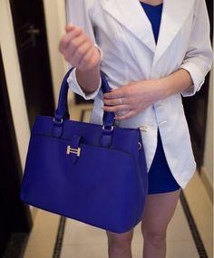 Office Women's Handbag With Metallic and Solid Color Design Color: BLACK, WINE RED, BLUE, CAMEL Category: Bags > Women's Handbags > Tote Bags   Handbag Type: Totes  Style: Dress  Gender: Women  Embellishment: Rivet  Pattern Type: Solid  Handbag Size: Medium(30-50cm)  Closure Type: Zipper  Interior: Interior Zipper Pocket  Occasion: Business  Main Material: PU  Hardness: Soft  #navybluehandbagsleather #navybluehandbags #leatherhandbags #womenhandbags #bridgat.com