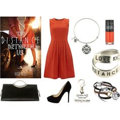 """""""The Distance Between Us by Kasie West inspired book look"""" by beesha1 on Polyvore"""