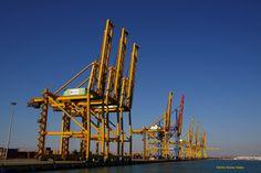 Noatum Container Terminal Valencia un dia poco corriente 17/03/2012. Container Terminal, Golden Gate Bridge, Valencia, Travel, Souvenirs, Viajes, Destinations, Traveling, Trips