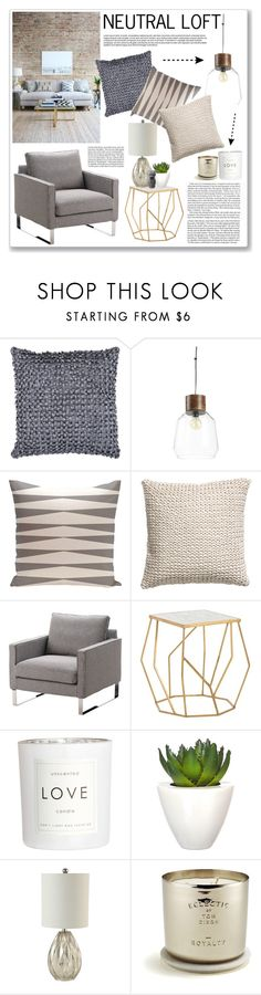 NEUTRAL LOFT by valentina-agnese on Polyvore featuring interior, interiors, interior design, home, home decor, interior decorating, Arteriors, CB2, H&M and Tom Dixon