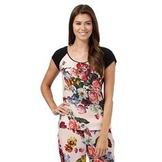 de815a27ef5d B by Ted Baker Black painted floral pyjama t-shirt