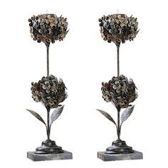 flower tea light holders