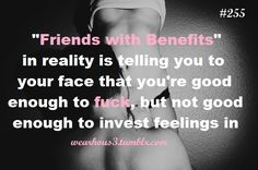 Benefit for you but Not for Me!!!! <3