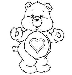 Care bears coloring pages bedtime bear 1 carebears Care Bear