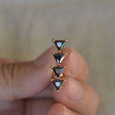 anneaux nombril magnifique obsidienne nombril par vickybodyjewelry