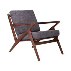 Sit back and relax knowing you've found a chair with ultimate style. Inspired by an iconic mid-century design, this armchair mixes an energetic frame of sleek walnut-finished ash with a comfortably pad...  Find the Zahra Armchair, as seen in the Dreaming of Mid-Century Collection at http://dotandbo.com/collections/dreaming-of-mid-century?utm_source=pinterest&utm_medium=organic&db_sku=104250