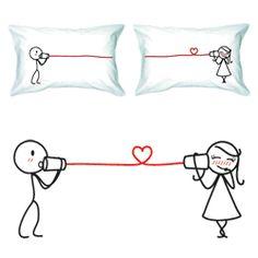 """Say I Love You"" Couple Pillowcase Set  $36.00"