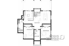 Sous-sol - Plan de chalet 4 chambres, superbe terrasses arrière, 3 salles de bain, 2 foyers, garde-manger, buanderie - Gleason