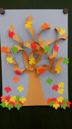 ✔ 33 easy fall crafts ideas to celebrate the autumn season 31 Fall Arts And Crafts, Autumn Crafts, Fall Crafts For Kids, Autumn Art, Thanksgiving Crafts, Autumn Trees, Toddler Crafts, Art For Kids, Kids Crafts