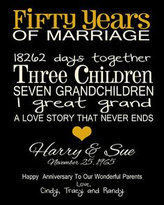50th Anniversary Family Timeline by TheFreckledOwlPrints on Etsy