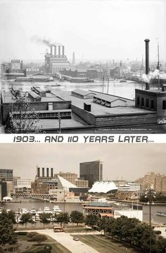 then and now - Baltimore Inner Harbor and Harbor Place Baltimore Colts, Baltimore Maryland, Cumberland Maryland, Maryland Colleges, Chesapeake Bay Bridge, Baltimore Inner Harbor, Pennsylvania History, Le Havre, Ocean City