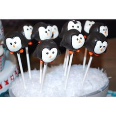 Landon's Winter ONEderland First Birthday Party by The Paper Cupcake found on Polyvore