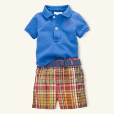 Nothing better than little boys in polos and plaid shorts!
