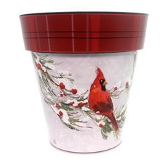 Home & Garden Snowy Cardinal (Red) 15' ART Planter Christmas Holiday Ap15010 Diy Christmas Crafts To Sell, Diy Arts And Crafts, Fall Crafts, Holiday Crafts, Christmas Decorations, Diy Crafts, Clay Pot Projects, Clay Pot Crafts, Painted Clay Pots