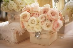 Get expert wedding planning advice and find the best ideas for wedding decorations, wedding flowers, wedding cakes, wedding songs, and more. Blush Centerpiece, Blush Wedding Centerpieces, Wedding Decorations, Centrepieces, Small Centerpieces, Table Decorations, Wedding Events, Our Wedding, Dream Wedding
