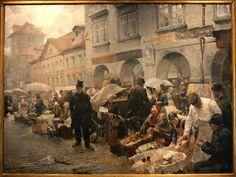 Egg Market in Prague, 1888    ::    (Luděk Marold, 1865~1898)