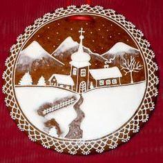 Gingerbread Winter Scene