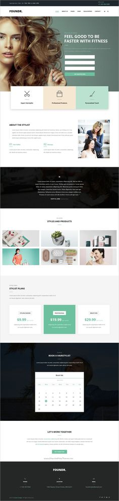 Foundr is a wonderful responsive HTML #Bootstrap template for #webdev stunning #beautician #saloon websites with 5 multipurpose homepage layouts download now➩ https://themeforest.net/item/foundr-booking-for-business-and-entrepreneurs/19186672?ref=Datasata