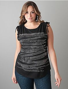 Studded top by Lane Bryant