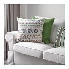 PIPÖRT Cushion cover, white/green - IKEA