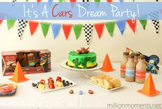 Combine a few crafty touches with great food and lots of fun for an adorable Cars themed kids party!