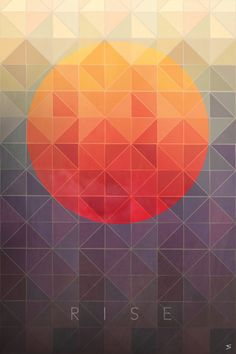 I love geometrics & would like something akin to this, I like the contrast of the bright colour against the grey/purple tones.