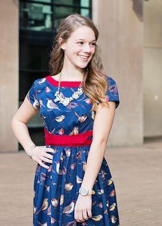 Bird Print Dress xoxoBella.com
