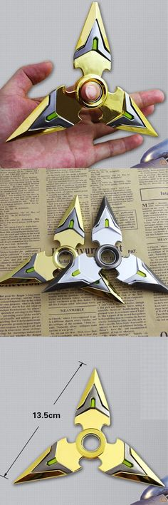 US$8.00 Hand Tri Spinner EDC Metal Bearing Fidget Toy Rotat Stress Reliever