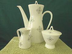 Rosenthal Germany Studio Linie 4 Cup Coffee Pot w/Lid Creamer & Sugar Bowl w/Lid