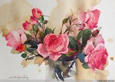 泰国女画家Phatcharaphan Chanthep水彩花卉-伍峰的喜欢