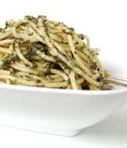 pasta with homemade pesto.