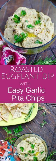 ... easy garlic pita chips grilled eggplant dip with easy garlic pita