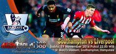 Prediksi Southampton vs Liverpool, Prediksi Skor Southampton vs Liverpool, Jadwal Pertandingan Southampton vs Liverpool pada ajang Liga Primer Inggris rencananya akan digelar pada hari Sabtu, 19 November 2016 Pukul 22.00 WIB bertempat di St. Mary's Stadium, Southampton, Hampshire live on BeIN Sports 1.