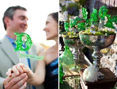 Letter lollipops, so chic. | Amorology Weddings