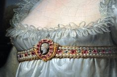 http://ornamentedbeing.tumblr.com wrote:  A detail of the Napoleon cameo in a portrait of Josephine. The painting is by Andrea Appiani.