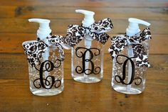 Personalized Hand Sanitizer $16.00, via Etsy. I feel my cricut calling my name!
