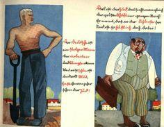 "antisemitic propaganda; left representation of ""Aryan"" or ""Nordic"" race and right supposed ""Semite""."