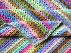 Attic24 cupcake blanket. Only uses treble crochet (UK)/ double crochet (US) so really easy and grow quickly.