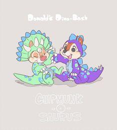 Chipmunk-O-Saurus! by Umintsu on DeviantArt Disney Fan Art, Disney Pixar, Disney Parks, Disney Drawings, Cute Drawings, Chip And Dale, Princess Drawings, Wallpaper Iphone Disney, Disney And More