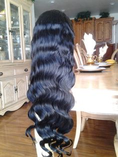 Indian Remy// Body Wave//#1b// Full Lace Wig// 24 inches//Part Anywhere